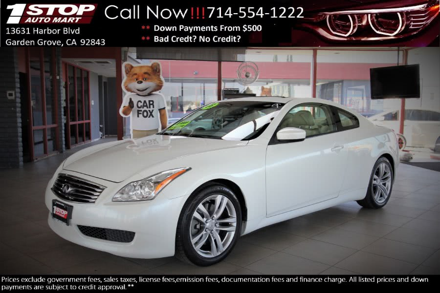 Used 2008 Infiniti G37 Coupe in Garden Grove, California | 1 Stop Auto Mart Inc.. Garden Grove, California