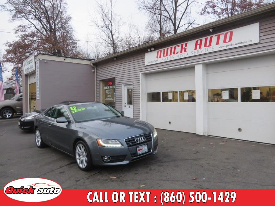 Used Audi A5 2dr Cpe Man quattro 2.0T Premium Plus 2012 | Quick Auto LLC. Bristol, Connecticut