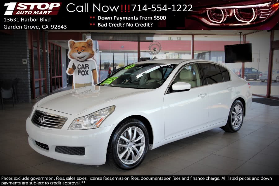 Used 2009 Infiniti G37 Sedan in Garden Grove, California | 1 Stop Auto Mart Inc.. Garden Grove, California