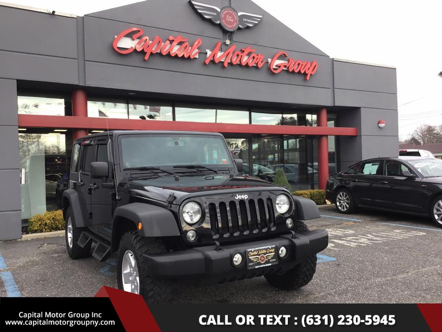 2014 Jeep Wrangler Unlimited 4WD 4dr Sport, available for sale in Medford, New York | Capital Motor Group Inc. Medford, New York