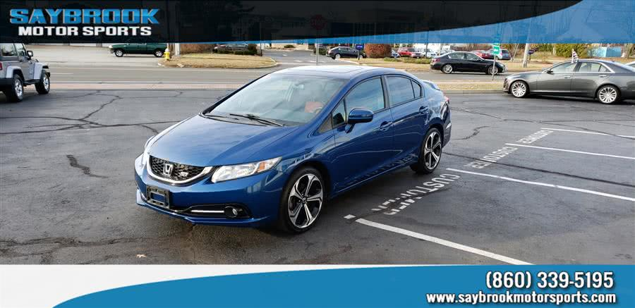 2015 Honda Civic Sedan 4dr Man Si w/Navi, available for sale in Old Saybrook, CT