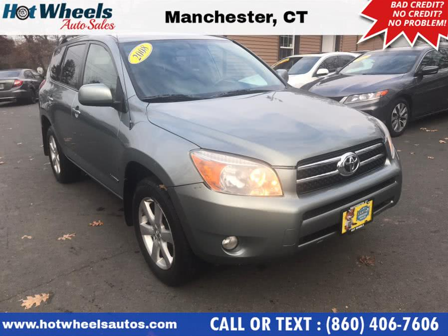 Used Toyota RAV4 4WD 4dr 4-cyl 4-Spd AT Ltd 2008 | Hot Wheels Auto Sales LLC. Manchester, Connecticut