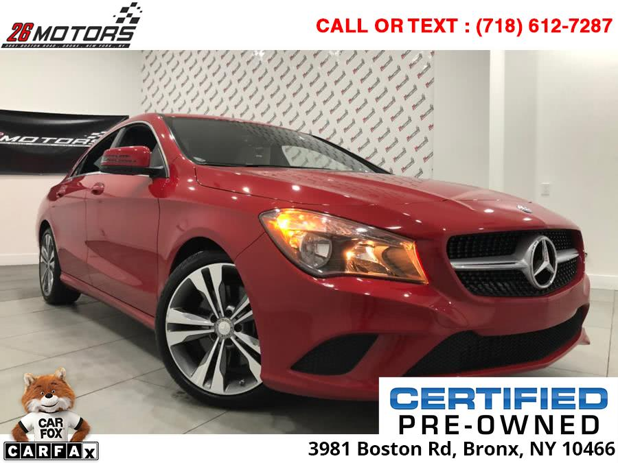 2016 Mercedes-Benz CLA 4dr Sdn CLA 250 4MATIC, available for sale in Bronx, New York | 26 Motors Corp. Bronx, New York