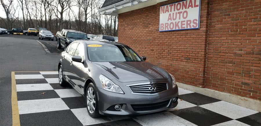 Used 2012 Infiniti G25X Sedan in Waterbury, Connecticut | National Auto Brokers, Inc.. Waterbury, Connecticut