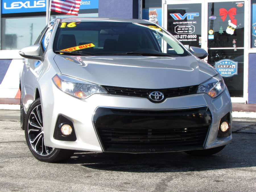 Used Toyota Corolla 4dr Sdn CVT S (Natl) 2016 | VIP Auto Enterprise, Inc. Orlando, Florida
