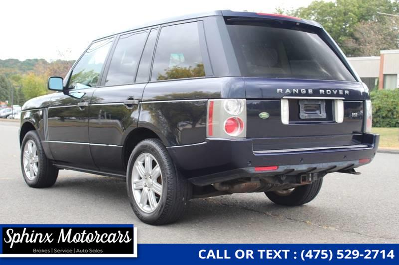 2008 Land Rover Range Rover HSE 4x4 4dr SUV, available for sale in Waterbury, Connecticut | Sphinx Motorcars. Waterbury, Connecticut