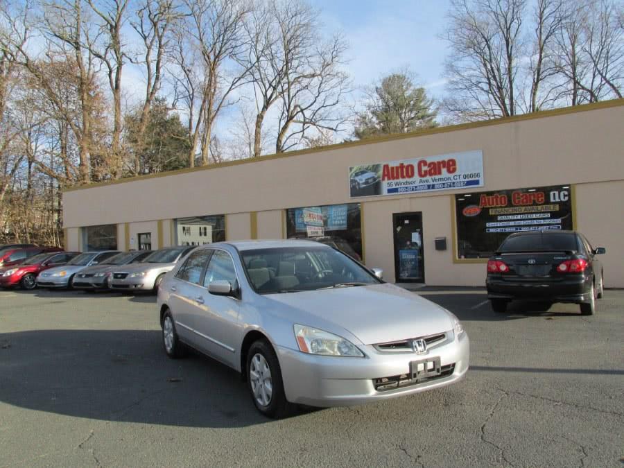 Used 2003 Honda Accord Sdn in Vernon , Connecticut | Auto Care Motors. Vernon , Connecticut