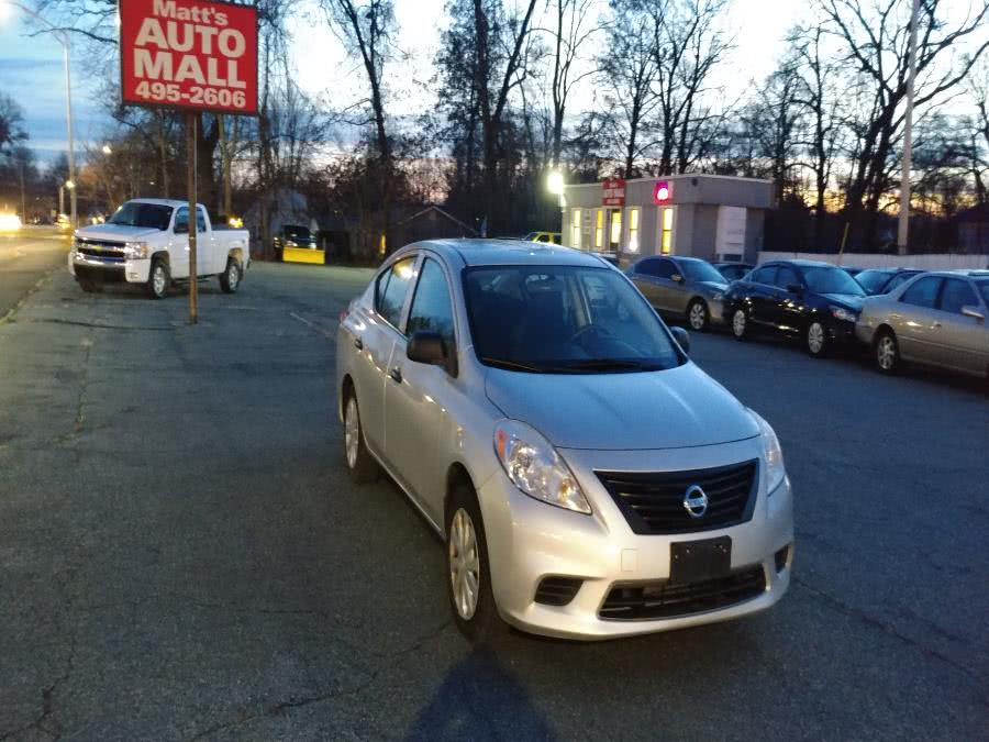 Used Nissan Versa 4dr Sdn CVT 1.6 S 2012 | Matts Auto Mall LLC. Chicopee, Massachusetts