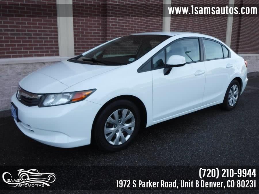 Used 2012 Honda Civic Sdn in Denver, Colorado | Sam's Automotive. Denver, Colorado