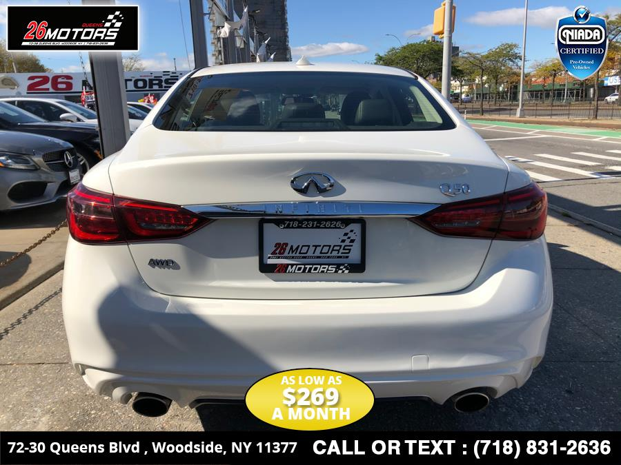 2018 INFINITI Q50 2.0t PURE AWD, available for sale in Bronx, New York | 26 Motors Corp. Bronx, New York