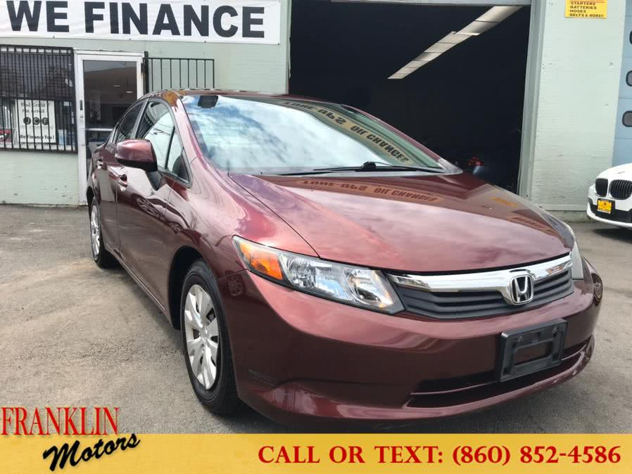 Used 2012 Honda Civic Sdn in Hartford, Connecticut | Franklin Motors Auto Sales LLC. Hartford, Connecticut