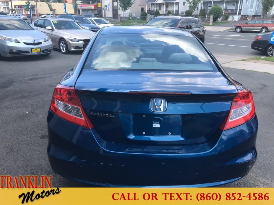 Used Honda Civic Cpe 2dr Auto EX 2012   Franklin Motors Auto Sales LLC. Hartford, Connecticut