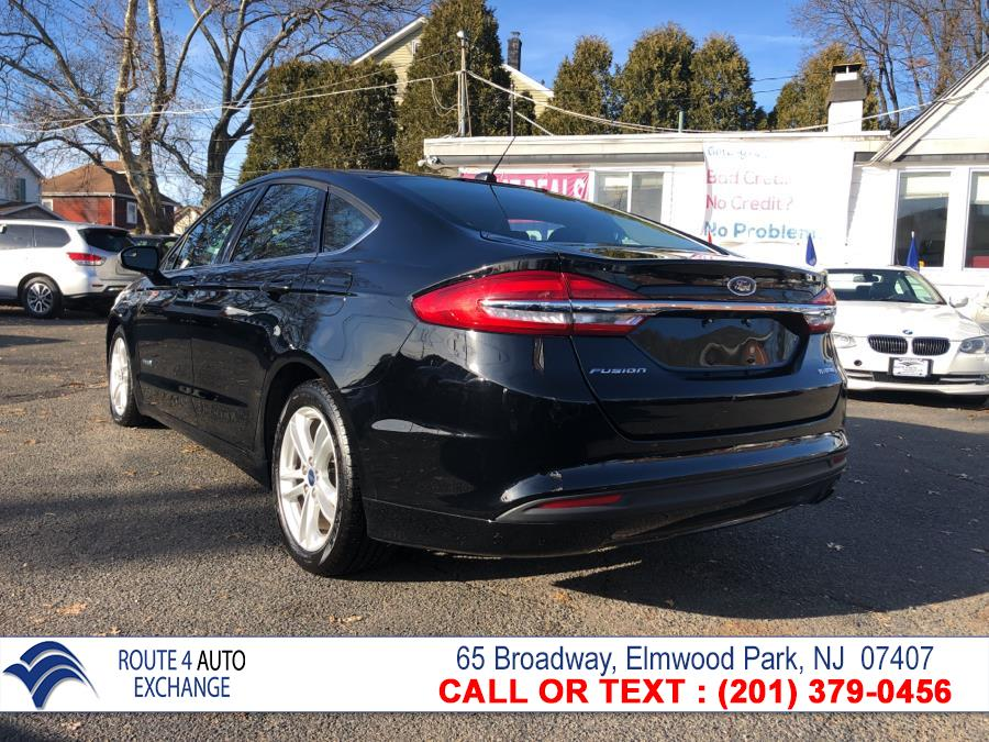 Used Ford Fusion Hybrid SE FWD 2018 | Route 4 Auto Exchange. Elmwood Park, New Jersey