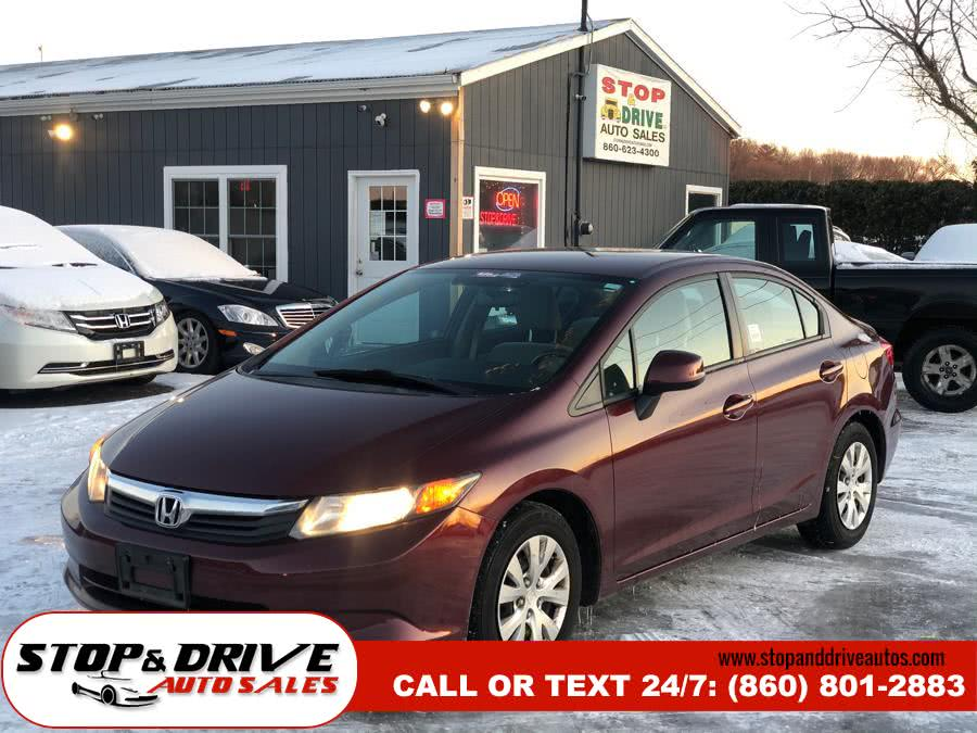 Used 2012 Honda Civic Sdn in East Windsor, Connecticut | Stop & Drive Auto Sales. East Windsor, Connecticut