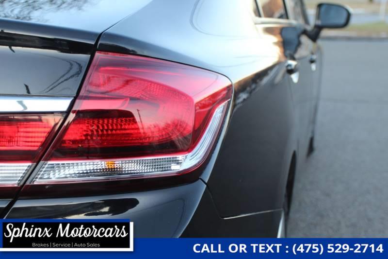 2014 Honda Civic LX 4dr Sedan CVT, available for sale in Waterbury, Connecticut | Sphinx Motorcars. Waterbury, Connecticut